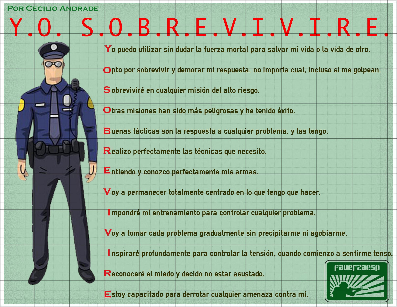 Infografía para ayudar al trabajo de la policía y el soldado.