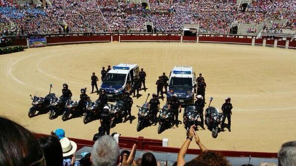 exhibicion del Bronce UPR de la policía