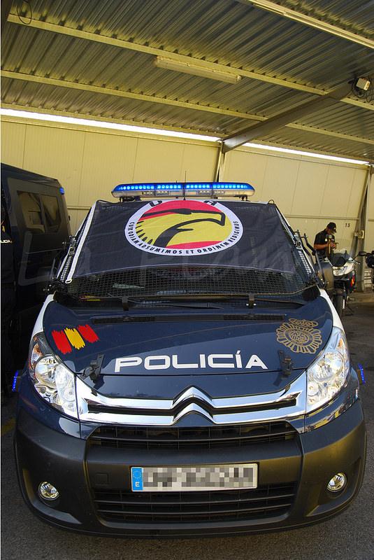 coche patrulla citroen de la upr de la policia