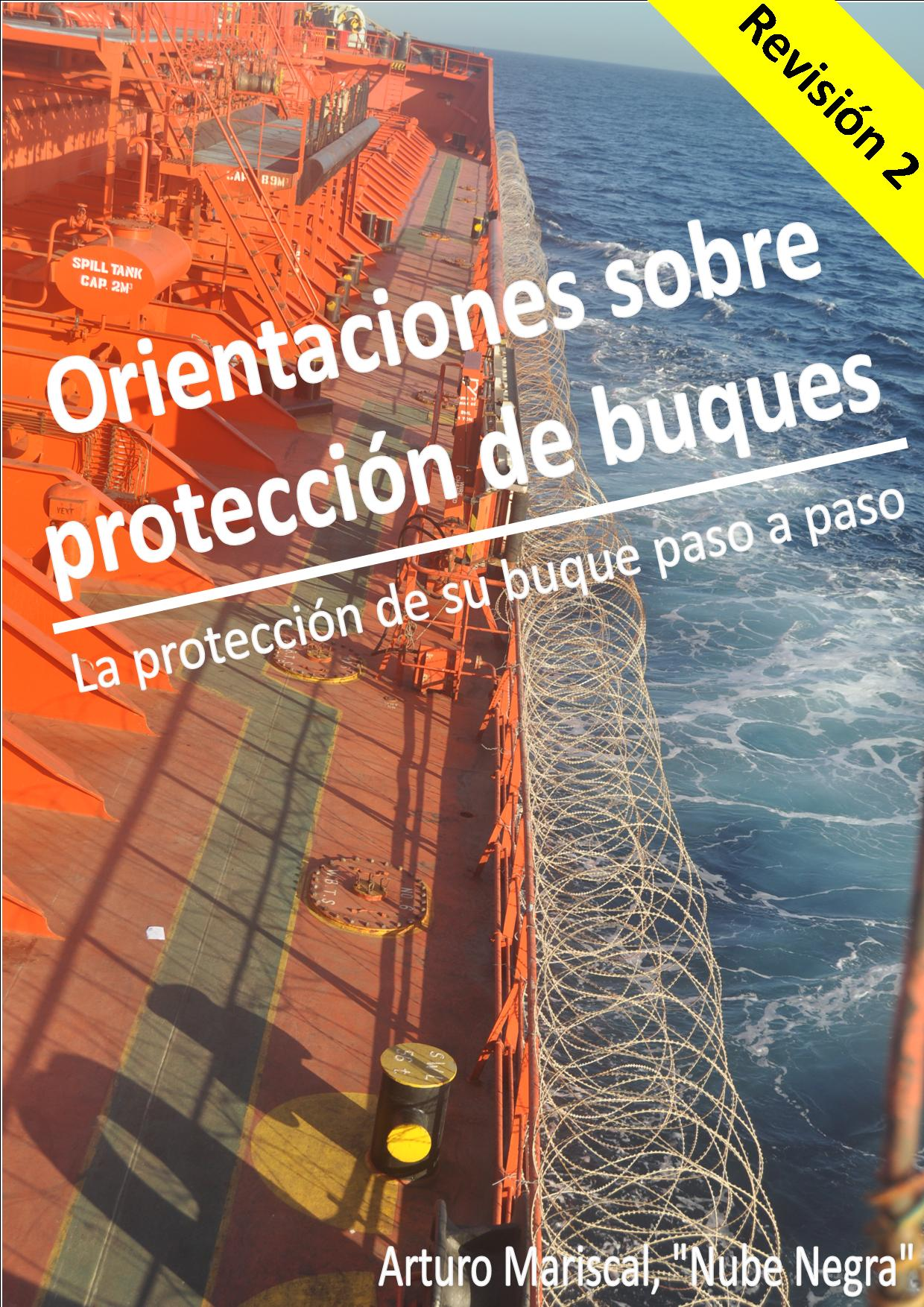 Portada del libro publicado por Arturo: Orientaciones sobre protección de buques.