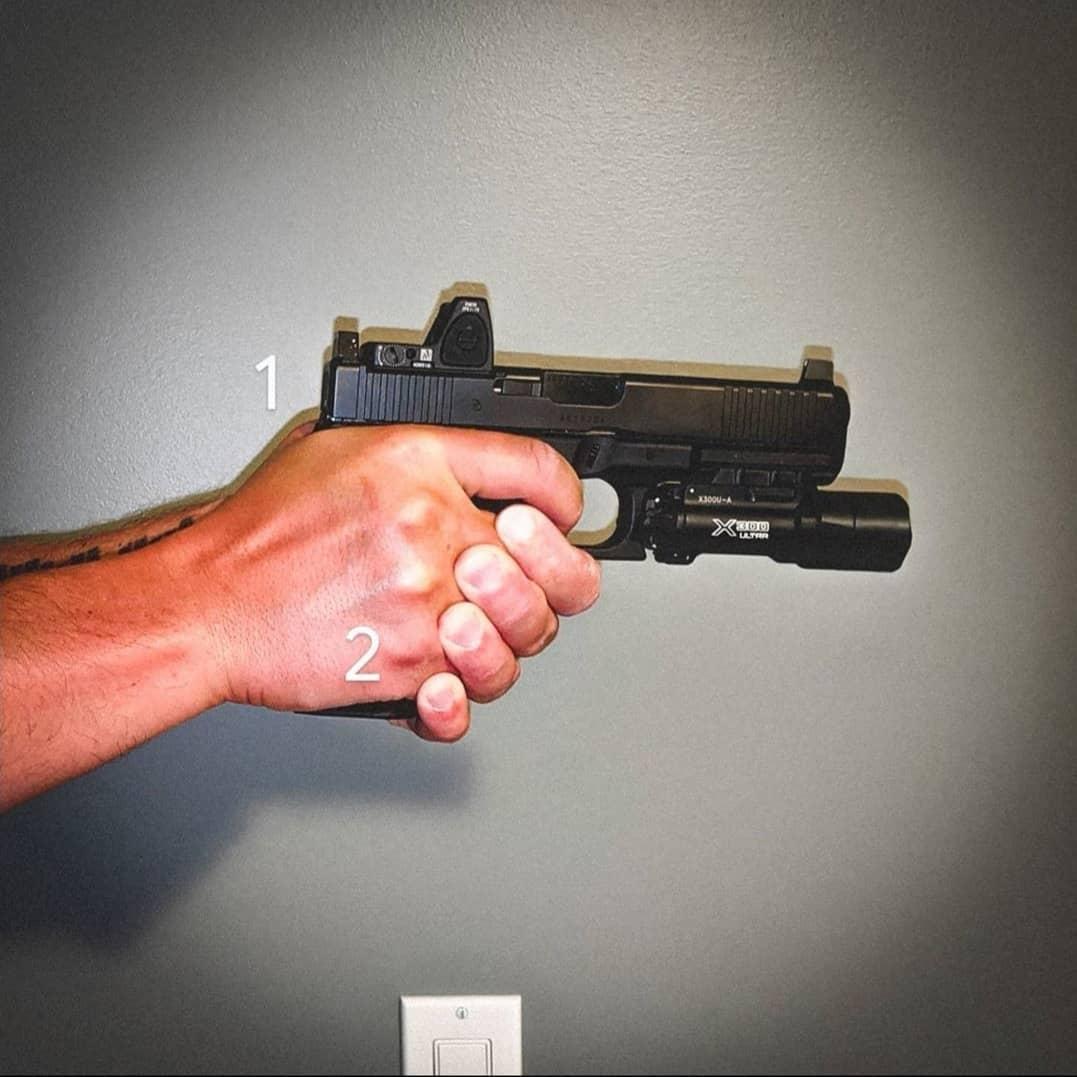 Muestra de agarre con pistola, foto 2