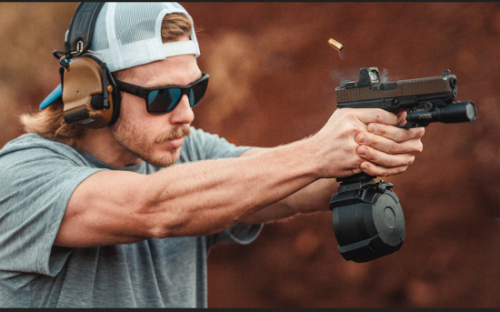 Cargador ampliado 50 balas para pistola GLOCK
